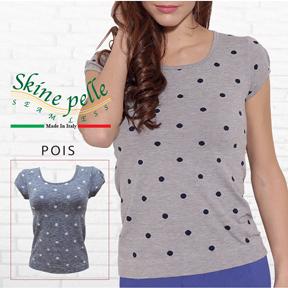 Skine pelle -スキーネペッレ POIS 水玉柄 Tシャツ