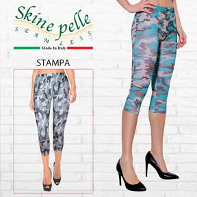 Skine pelle -スキーネペッレ STAMPA プリントレギンス ノーボ